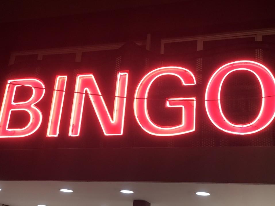 BINGO neon sign