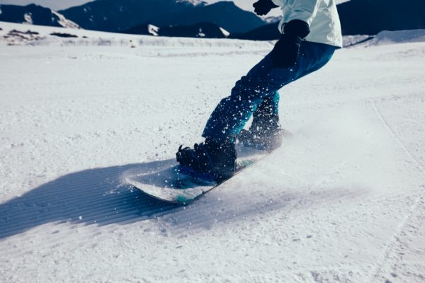 Snowboarding legs