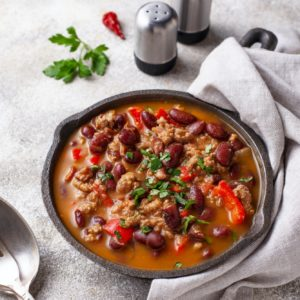 Traditional Mexican dish chili con carne