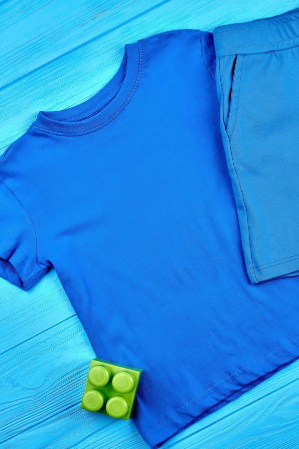 Toddler boy t-shirt, top view